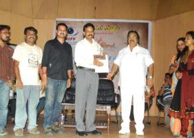 Receiving award from Dasari Narayana Rao