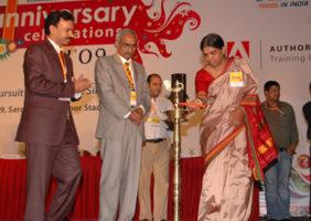 Lighting the lamp – Smt. Padmavathi, VC, JNAFAU